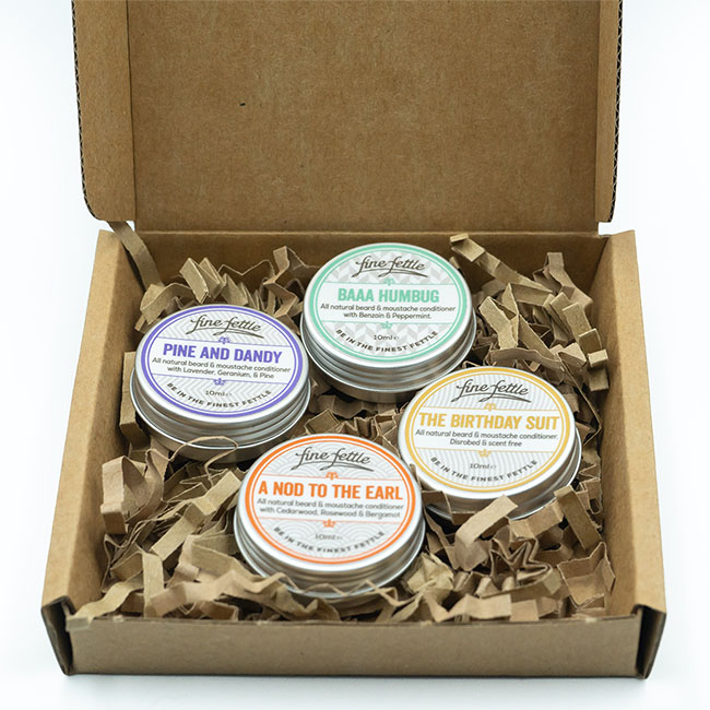 finefettle sample pack beard conditioner